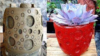 Vaso de Cimento e Toalha Muito Diferente