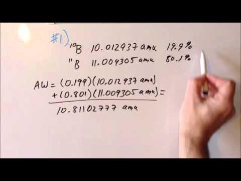 Isotopic Abundance (copper, Boron) Problems