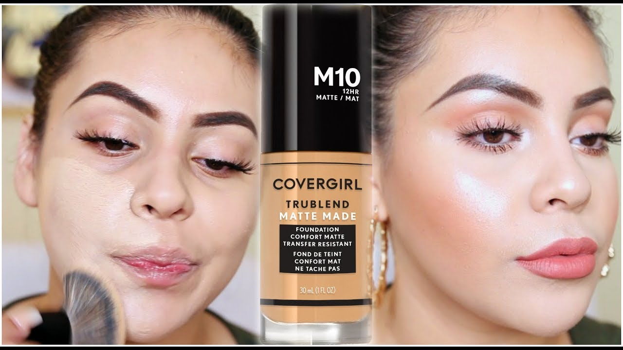 NEW COVERGIRL TruBlend Matte Made Foundation: FIRST IMPRESSION + WEAR TEST!  | JuicyJas
