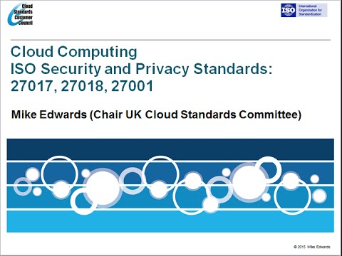 Webinar: ISO Cloud Security and Privacy Standards