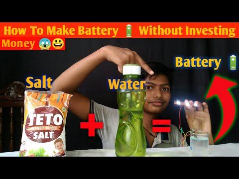 Salt + Water = Battery ||😃 😱  || How To Make Salt Water Battery | Free Energy