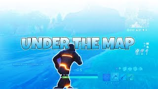 NEW UNDER THE MAP GLITCH ANYWHERE! ON FORTNITE BATTLE ROYALE