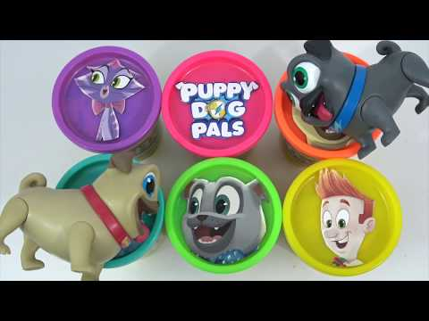 Learn Colors PUPPY DOG PALS PLAY-DOH with LOL Surprise Dolls and Lil Sisters! Toys Unlimited
