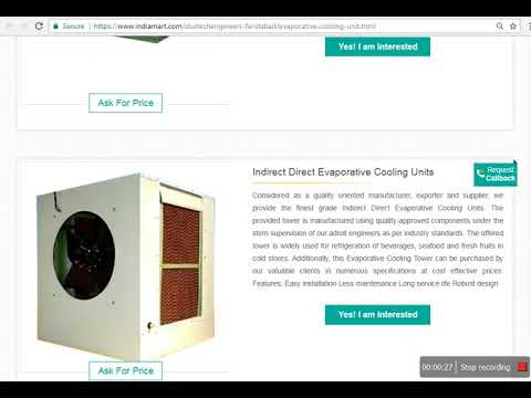 Dustech Engineers Pvt Ltd - Products : Evaporative Cooling Units