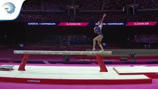 Amelie MORGAN (GBR) - 2018 Artistic Gymnastics Europeans, junior beam silver medallist