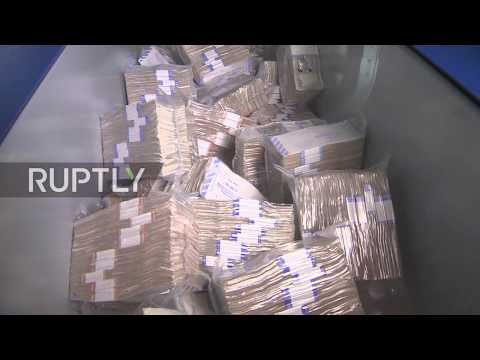 Russia: FAKE money to burn at Russian Central bank