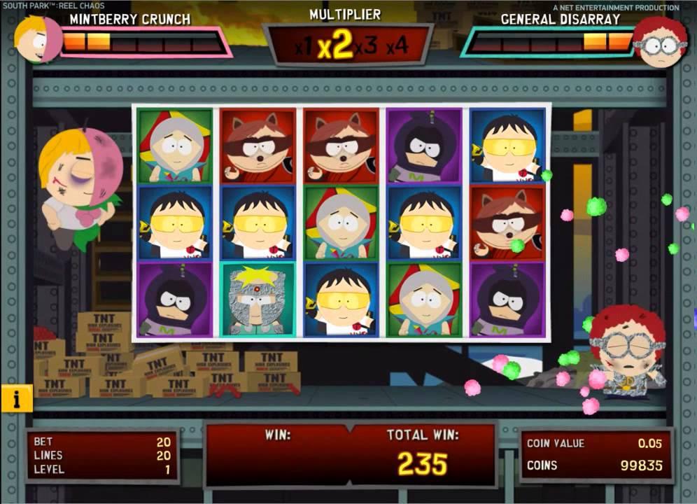 South Park Reel Chaos slots - spil NetEnt slots online