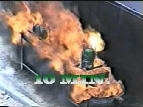 Leyan - Gas Cylinder Fiber Glass - Fire Test in Saudi Arabia