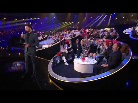 Solo of Epic Sax Guy during interview at Eurovision