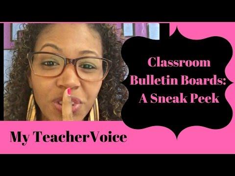 Classroom Bulletin Boards: A Sneak Peek