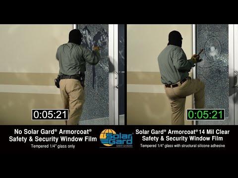 Solar Gard® Armorcoat® Safety Film: School Intruder Test