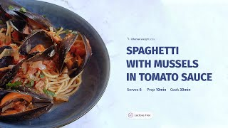 Spaghetti With Mussels In Tomato Sauce - Recipes by Interval Weight Loss