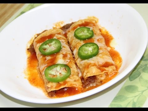 Lunch Box Beans & Cheese Enchiladas Video Recipe