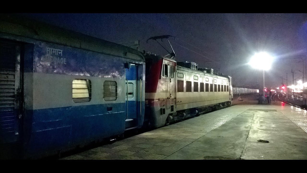 night coverage of various trains at durg junction   indian