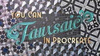 You Can Fauxsaic in Procreate on the iPad