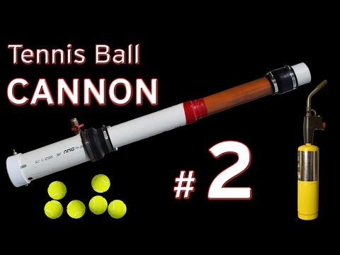 Tennis Ball Launcher Mapp Gas Fueled Cannon