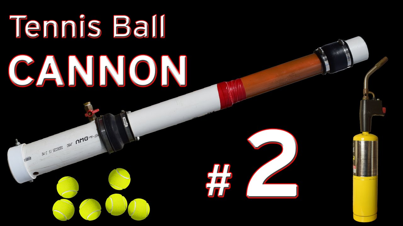 Tennis Ball Launcher >> Tennis Ball Launcher /Mapp Gas Fueled Cannon - YouTube
