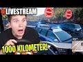 LIVESTREAM 🔴1000 Kilometer CHALLENGE quer durch Deutschland