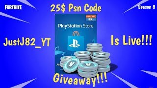 FORTNITE SEASON 8-25$ psn Code giveaway Tonight !!! Must Have Twitter or instagram._.
