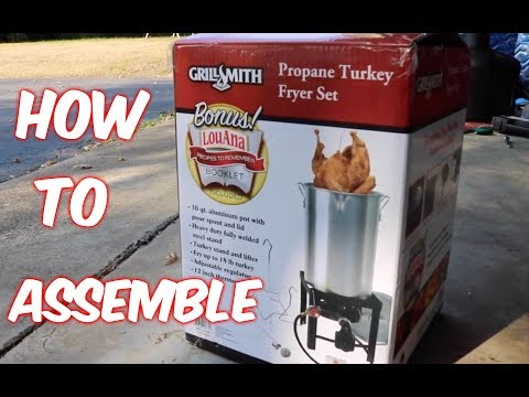 Grill Smith Turkey Fryer Set ASSEMBLY