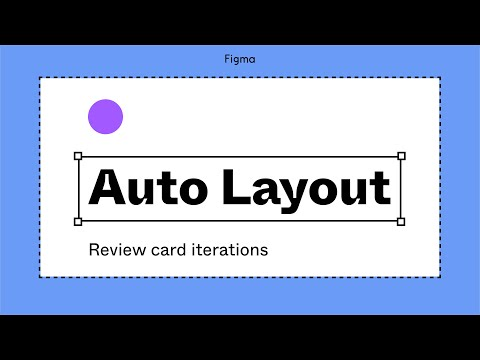 Figma tutorial: Auto layout review card iterations