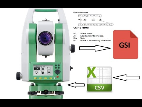 Leica formate gsi to csv to gsi