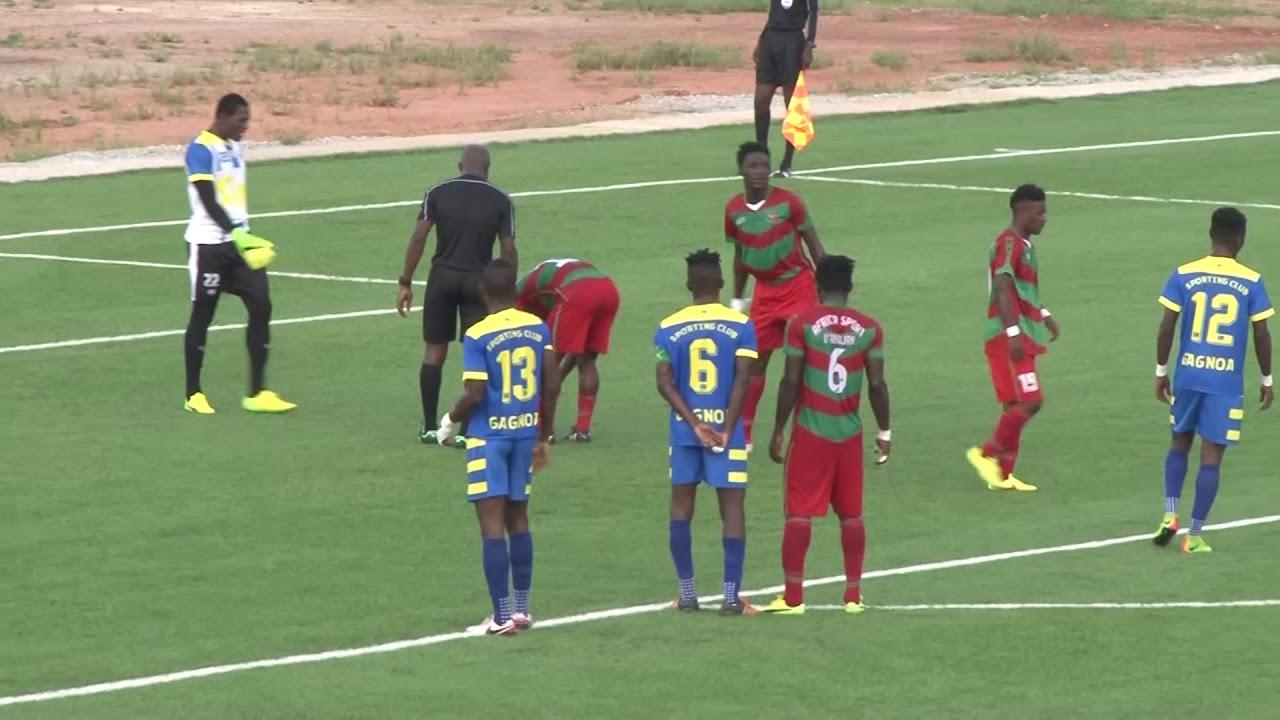 LIGUE 1CIV 8EME JOURNÉE SC GAGNOA VS AFRICA SPORTS 02/12/2017