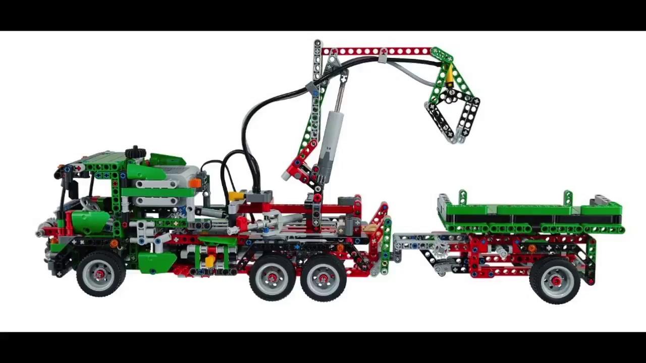 lego technic 42008 lastwagen youtube. Black Bedroom Furniture Sets. Home Design Ideas