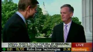 Senator Gregg appears on Bloomberg Television