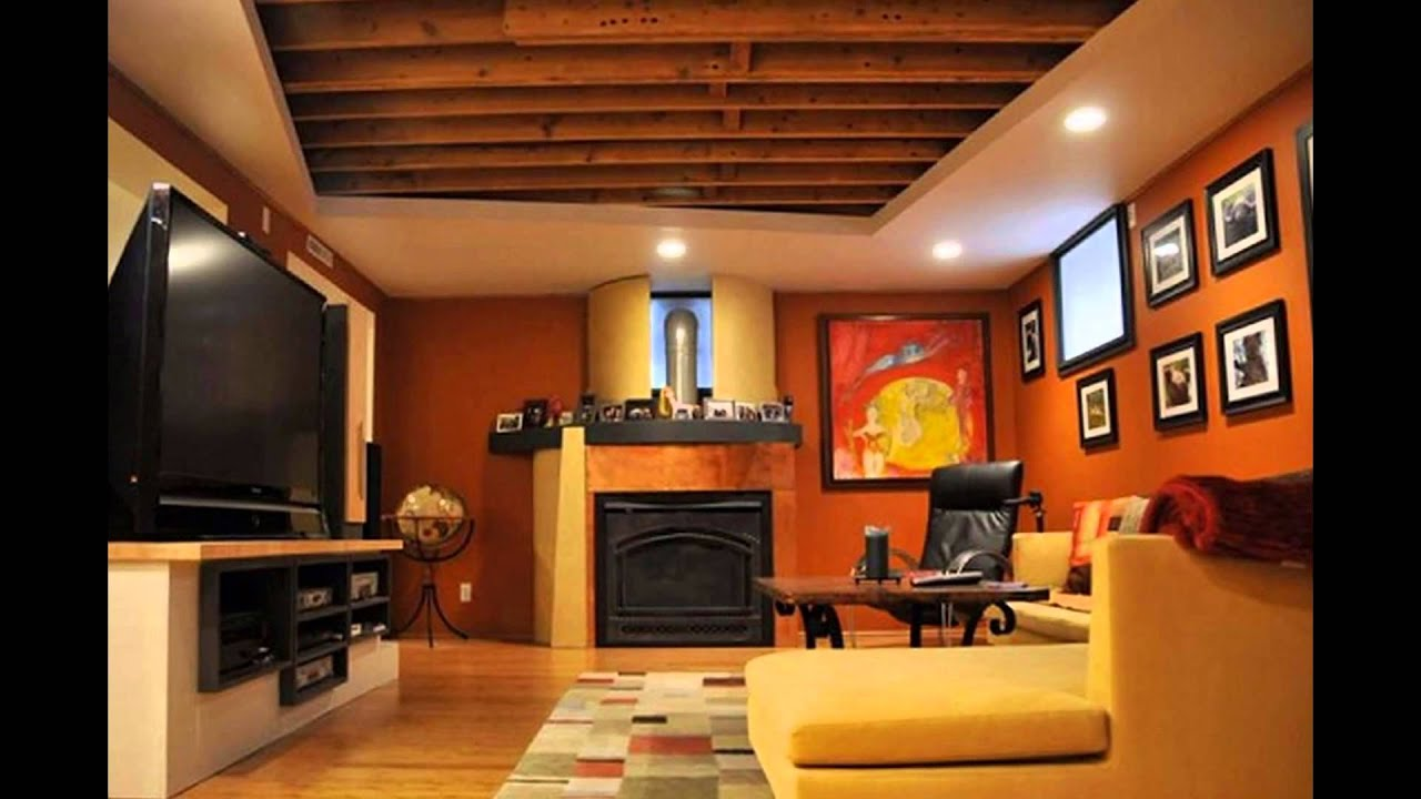 Interesting Finished Basement Wall And Floor Paint Color Ideas
