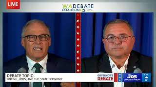 WATCH: Gov. Jay Inslee and Loren Culp face off in only televised Washington governor's debate