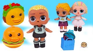 Hungry for Cute Mall Food ! LOL Surprise Scribbles Boy Doll Play Video - Cookie Swirl C