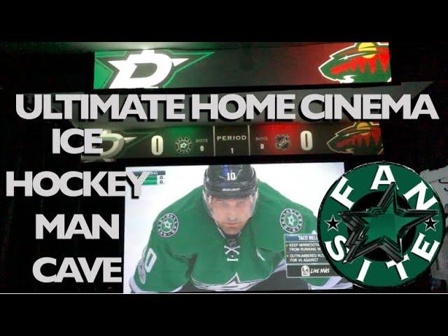 Dallas Stars Home Cinema Man Cave | Intro | Anthem | Game Start
