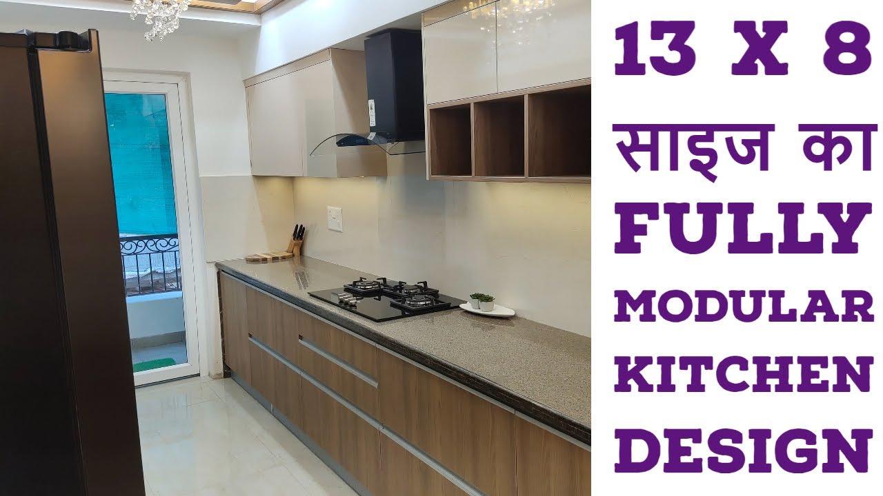 9 x 9 Size Fully Best Modular Kitchen Design