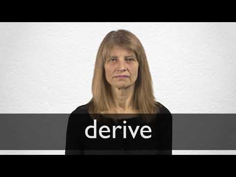Derive definition and meaning   Collins English Dictionary