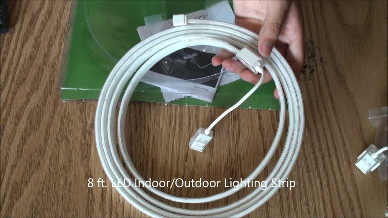 Cabled 8 Ft Led Extension Indoor Or Outdoor Lighting Strip Unboxing