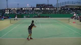 ★アジアソフトテニス選手権2016 国別対抗戦 男子決勝戦 日本ー韓国2 増田ーKIM DONG-HOON