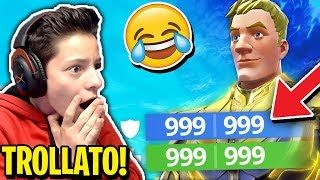 I TROLLED a FRIEND of mine with an ASSURDO GLITCH and he's CRAZY! - Fortnite ITA