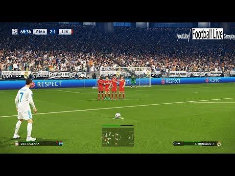 PES 2018   Real Madrid vs Liverpool   2 Free Kick Goal   Final UEFA Champions League (UCL)