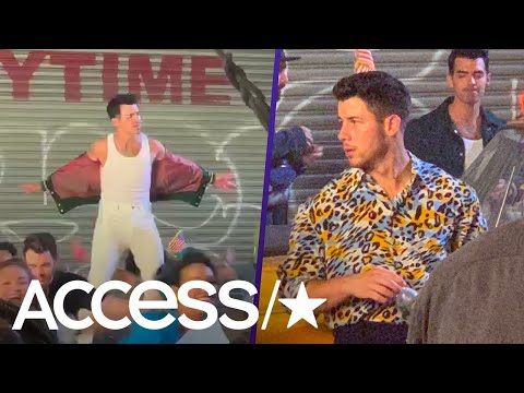 jonas-brothers-bring-'80s-vibe-to-'only-human'-while-filming-music-video-(exclusive)