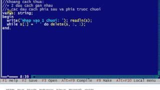 Chuẩn hóa xâu (chuỗi) trong Pascal