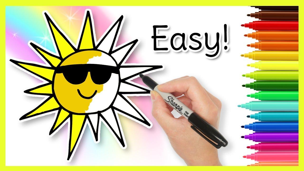 SUN Drawing - Easy Kids Drawings