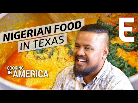Pounded Yam and Traditional Nigerian Food at Cafe Abuja — Cooking in America Houston