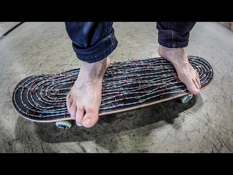 Deadly Barbed Wire Skateboard