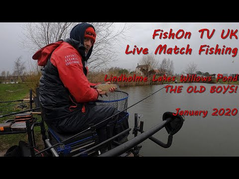 FishOn TV UK, Live Match Fishing , Lindholme Lakes, Willows Pond.  He's Still Catching  January 2020