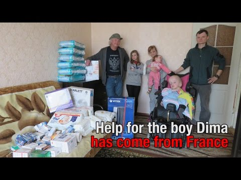 Help for severely ill Dima from Donbass came from France