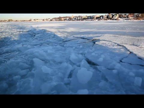Raw: Coast Guard Breaking Up Boston Harbor Ice