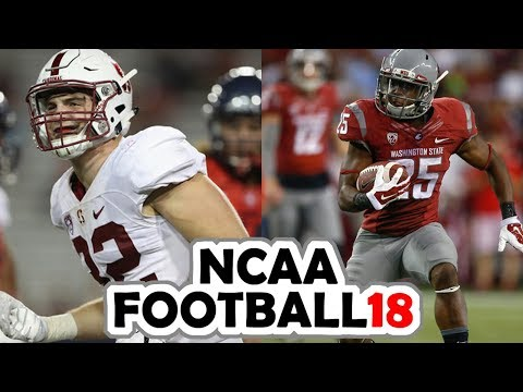 Stanford @ Washington State - 11-4-17 NCAA Football 18 Week 10 Simulation (UPDATED ROSTERS)
