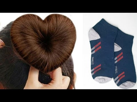 How to make Heart Hair Bun Using Socks ||2 Heart bun hairstyles || Namrata Singh
