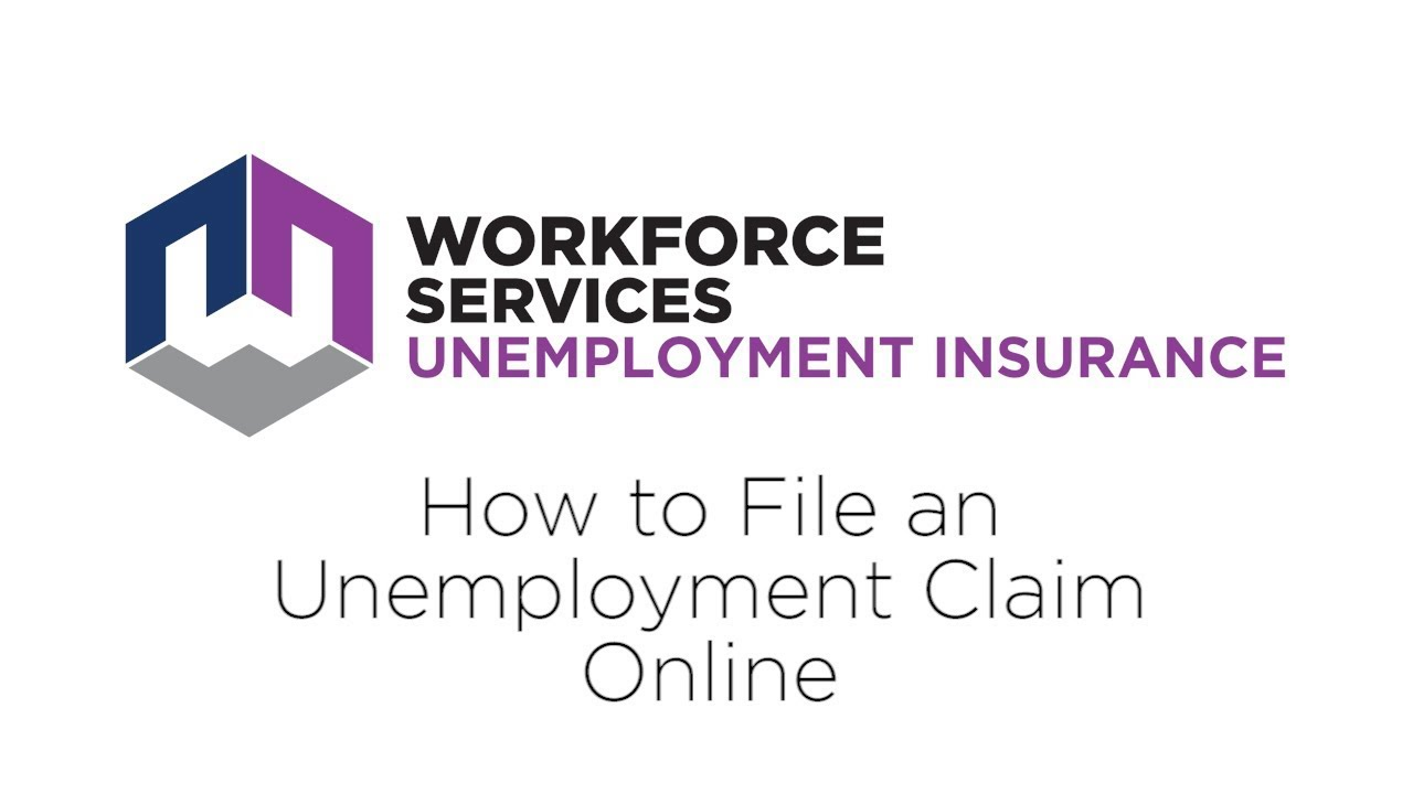 Claimants How To File An Unemployment Claim Online Youtube